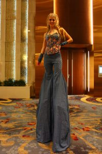 Blue Jeans Ball Stilt Walker Washington DC