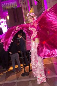 Stilt Walker Washington DC Pink Tie Party